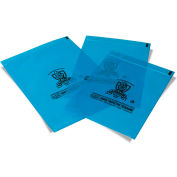"Armor Poly® VCI Resealable Zip Closure Flat Bags 8"" x 10"" 4 Mil Blue 1,000 Pack"