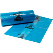 "Armor Defender® VCI Co-Extruded Gusseted Bags 27"" x 20"" x 25"" 4 Mil Blue 100 Bags per Roll"