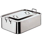 """Stainless Steel Roasting Pan W/Cover, 11-7/8""""W, 19-5/8""""L, 6""""H"""