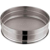"Stainless Steel Flour Sieve, Med. Mesh, 8-5/8""W, 3-1/8""H - Min Qty 3"