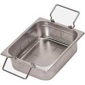 """Stainless Steel Hotel Pan, 1/1 Perforated, Folding Handle, 20-7/8""""L, 12-3/4""""W, 4""""H"""