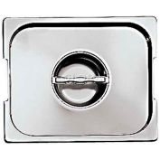 """Stainless Steel Hotel Pan, 1/3 Lid W/Handles, 12-3/4""""L, 7-1/8""""W, 1/8""""H - Min Qty 5"""