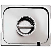 """Stainless Steel Hotel Pan, 1/6 Ladle Lid W/Handles, 7""""L, 6-1/4""""W, 1/8""""H - Min Qty 6"""