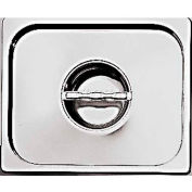 """Stainless Steel Hotel Pan, 1/6 Trimming Lid W/Handles, 7""""L, 6-1/4""""W, 1/8""""H - Min Qty 2"""