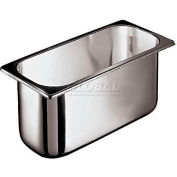 """Stainless Steel Ice Cream Container, 6-1/2""""W, 14-1/8""""L, 6-5/8""""D - Min Qty 2"""
