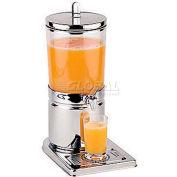 "Polypropylene Juice Dispenser, 6.3 Qt, 13-7/8""L, 9""W, 20-1/2""H"