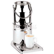 "Stainless Steel Milk Dispenser, No Cup, 3.2 Qt, 12-1/4""L, 8""W, 15-3/8""H"