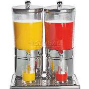"Stainless Steel Juice Dispenser Duo, 6.3 Qt./ea, 13-7/8""W, 16-1/2""L, 20-1/2""H"