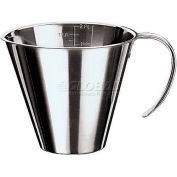 """Stainless Steel Stackable Measuring Jug, 3 3/8 Oz, 3"""" Diameter, 2""""H - Min Qty 15"""