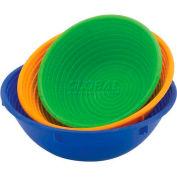 "Round Plastic Proofing Basket, Blue, 1-1/2 Kg, 10"" Diameter - Min Qty 3"