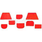 """Plastic Rectangular Bowl Scraper, 4-3/4""""L, 3-1/8""""W - Min Qty 8"""