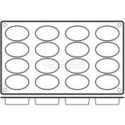 "Non-Stick Silicone Oval Mold, 11-7/8""L, 6-7/8""W, 1-3/8""H X 2-1/16"" Diameter Openings - Min Qty 6"