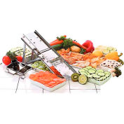 """Stainless Steel Mandolin Slicer Only W/38 Blade Set, No Pusher, Folded Dimensions: 12""""L X 5""""W X 2""""H"""