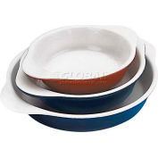 "Blue Cast-Iron Round Dish, 1/2 Qt, 1-3/8""H, 6"" Diameter - Min Qty 2"