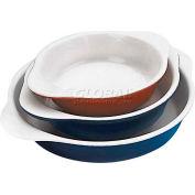 """Red Cast-Iron Round Dish, 3/4 Qt, 1-3/4""""H, 7"""" Diameter - Min Qty 2"""