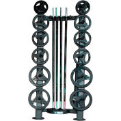 "Power Systems Deluxe CardioBarbell Set - 10 Deluxe Plates - Storage Rack - 51"" Bar"