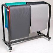 Power Systems Mobile Yoga Mat Storage Cart - Black