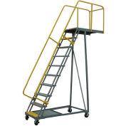 """P.W. Platforms 15 Step Steel Rolling Cantilever Platform, 24"""" Step Width - BS15SH30-SP"""