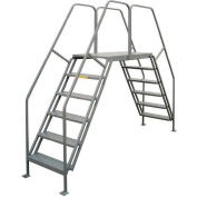 "P.W. Platforms 6 Step, 24""W x 42""D Steel Crossover Platform - CO6042"