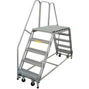 "P.W. Platforms 6 Step, 24""W x 49""D Steel Rolling Double Entry Platform - PWDE630-49"