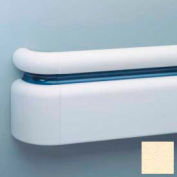 """All Vinyl Three-Piece Handrail System, 6.25"""" Face, Aluminum Retainer, 12' Long, Pale Yellow"""