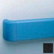 "Heavy-Duty 5.5"" Face Handrail/Wall Guard W/Aluminum & Retainer, 12' Long, Black"