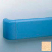 "Heavy-Duty 5.5"" Face Handrail/Wall Guard W/Aluminum-Reinforced Return & Retainer, 12' Long, Silkworm"