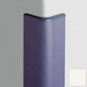 Surface Mounted Corner Guard Bullnose 90°, 3'' Wings, 4'H W/Caps, WH