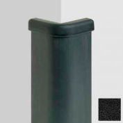 """Black Epdm Rubber Corner Guard, 3"""" Wings, 10'H, W/Full-Height Galvanized Steel Retainer, Epdm Rubber"""