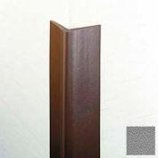 "Flexible Vinyl Corner Guard, 1-3/4"" Wings, 1/4"" Radius, 12'H, Gray, Heavy Duty Flexible Vinyl"