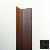 "Flexible Vinyl Corner Guard, 1-3/4"" Wings, 1/4"" Radius, 4'H, Black, Heavy Duty Flexible Vinyl"