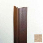 "Flexible Vinyl Corner Guard, 1-3/4"" Wings, 1/4"" Radius, 8'H, Tan, Heavy Duty Flexible Vinyl"