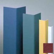 "Vinyl Surface Mounted Corner Guard, 90° Corner, 1-1/2"" Wings, 4'H, Cordovan, Drilled"