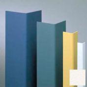 "Vinyl Surface Mounted Corner Guard, 90° Corner, 1-1/2"" Wings, 4'H, WH, Vinyl W/Tape"