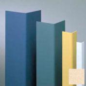 "Vinyl Surface Mounted Corner Guard, 90° Corner, 1-1/2"" Wings, 4'H, Ivory, Vinyl W/Tape"