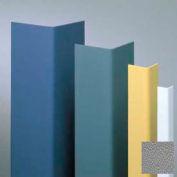"Vinyl Surface Mounted Corner Guard, 90° Corner, 1-1/2"" Wings, 8'H, Gray, Vinyl W/Tape"