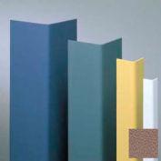 """Vinyl Surface Mounted Corner Guard, 135° Corner, 1-1/2"""" Wings, 8'H, Café Au Lait, Vinyl W/Tape"""