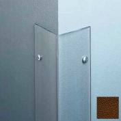 """Polycarbonate Surface Mounted 90° Corner Guard, 2-1/2"""" Wing, 8'H, Brown, Taped"""
