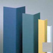 "Vinyl Surface Mounted Corner Guard, 90° Corner, 3/4"" Wings, 12'H, Pearl Gray, Vinyl W/Tape"