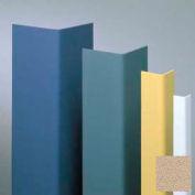 "Vinyl Surface Mounted Corner Guard, 90° Corner, 3/4"" Wings, 12'H, Tan , Vinyl With Tape Applied"