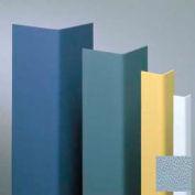 "Vinyl Surface Mounted Corner Guard, 90° Corner, 3/4"" Wings, 8'H, BL Fog, Vinyl W/Tape"