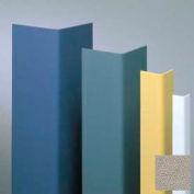 "Vinyl Surface Mounted Corner Guard, 90° Corner, 1-1/2"" Wings, 4'H, Chinchilla, Undrilled"