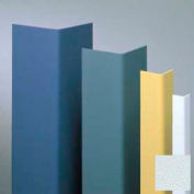 "Vinyl Surface Mounted Corner Guard, 90° Corner, 3/4"" Wings, 12'H, BL Ice, Vinyl"