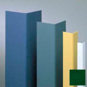 "Vinyl Surface Mounted Corner Guard, 90° Corner, 3/4"" Wings, 4' Height, Hunter GRN, Vinyl"