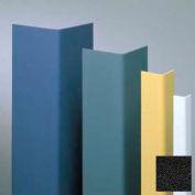 "Vinyl Surface Mounted Corner Guard, 90° Corner, 3/4"" Wings, 8'H, Black, Vinyl"
