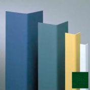 "Vinyl Surface Mounted Corner Guard, 90° Corner, 3/4"" Wings, 8' Height, Hunter GRN, Vinyl"