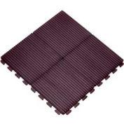 "Hi-Rib Modular Tile, 12""L X 12""W, 1/2"" H, Black"