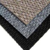 """Berber Polypropylene Carpet Tiles, 19-11/16""""L X 19-11/16""""W, 1/2"""" H, Black"""