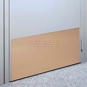 """Kick Plate Made From .060"""" Pvc Sheet, 12"""" X 32"""", Dover White - Pkg Qty 6"""