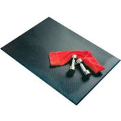 "Recycled Rubber Punishment Pad, 48""L x 72""W, 3/8"" H, Black"